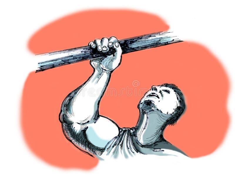 Superando los obstáculos, superándose stock de ilustración