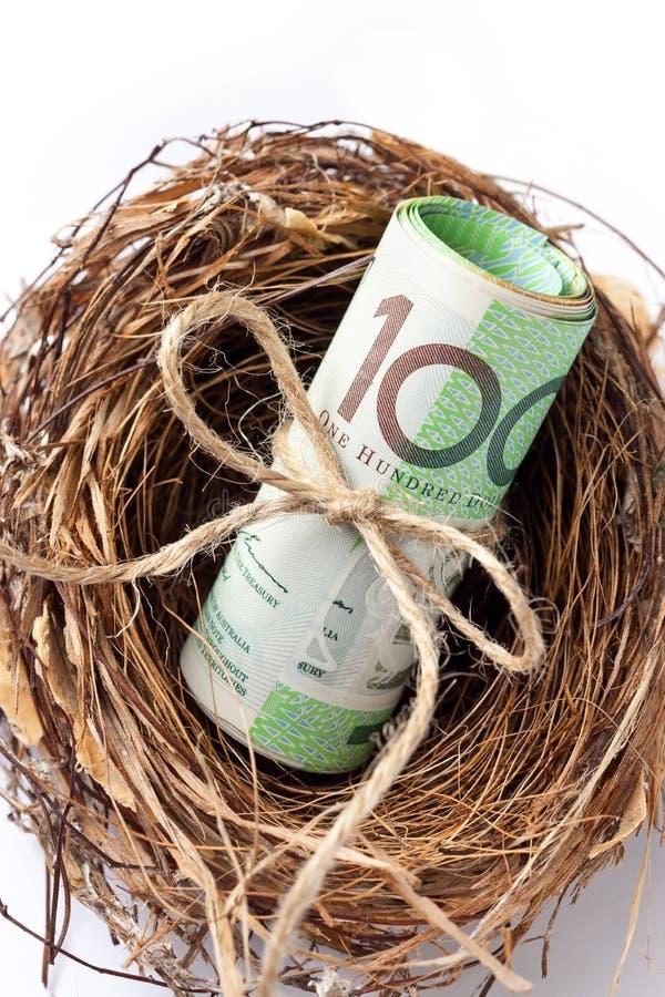 Superannuation pieniądze gniazdeczka biznes zdjęcia stock