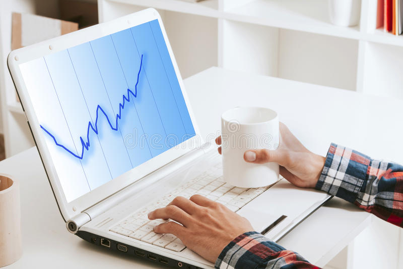 Superavit, economy and finance stock image