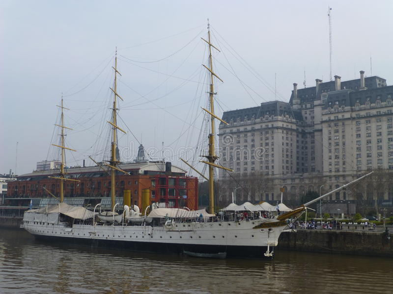 Superb Historic Sailing Boat in Buenos Aires royalty free stock photo