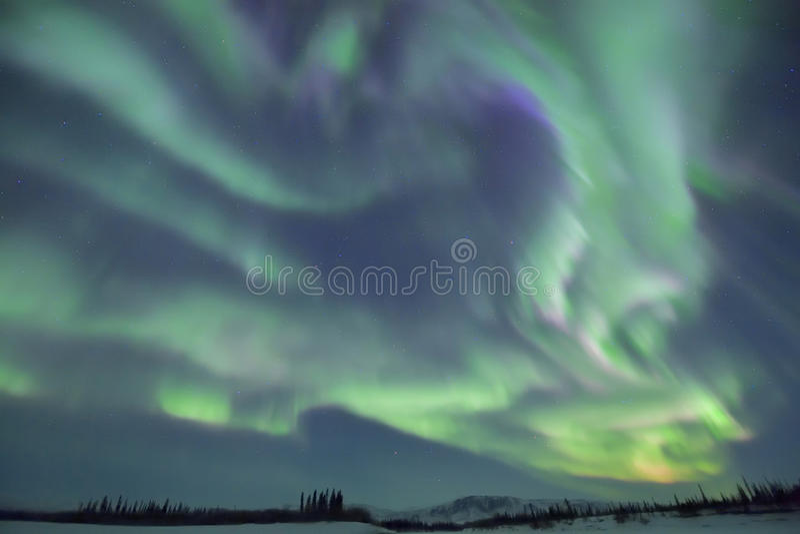 Superb northern lights royalty free stock photos