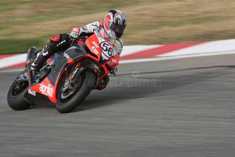 Superbike Aprilia No.56 stockbild