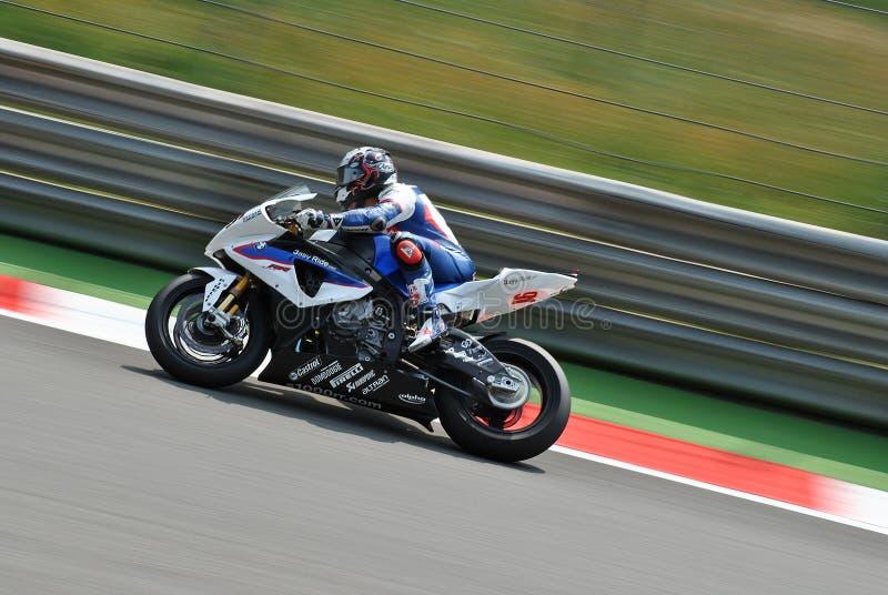 Superbike BMW Motorrad Motorsport Leon Haslam royalty free stock photo