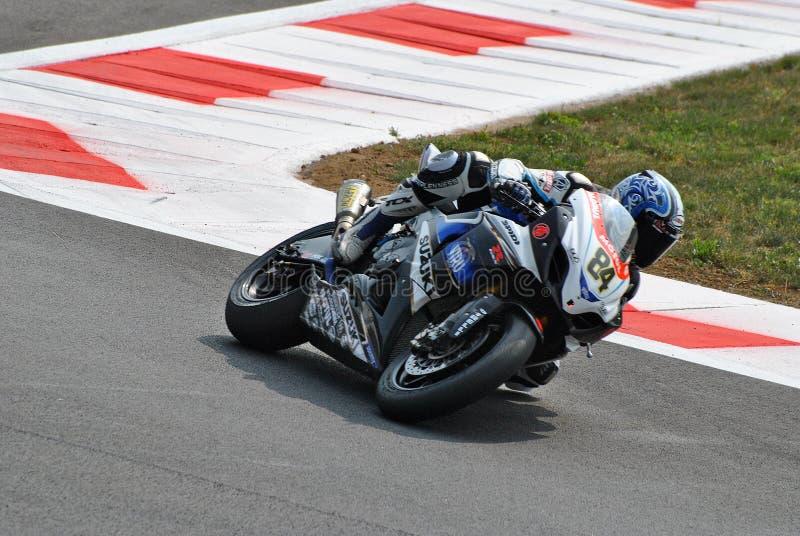 Superbike Drużynowy Suzuki Alstare Michel Fabrizio zdjęcia royalty free