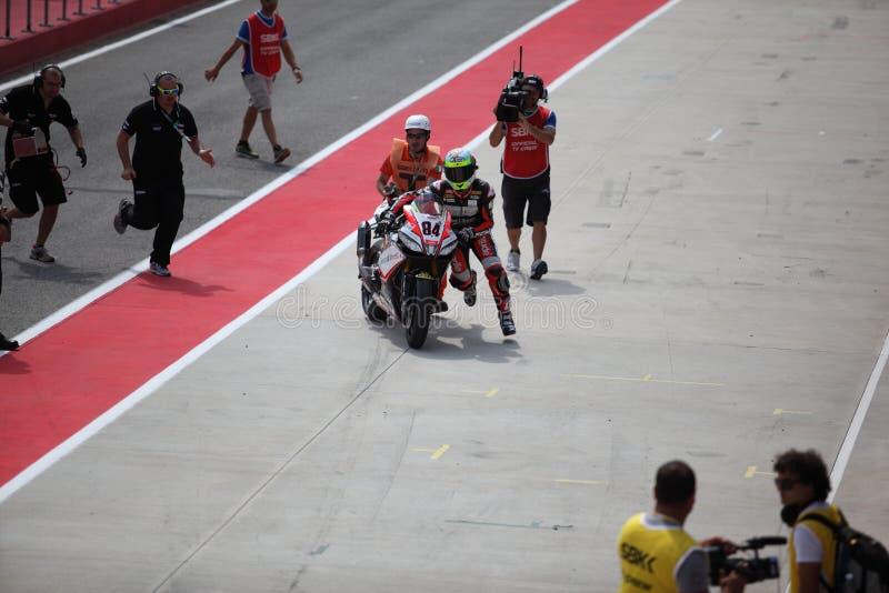 Superbike Imola Michel Fabrizio 2013 photos libres de droits