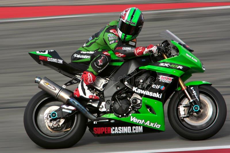 Superbike Kawasaki fotos de archivo libres de regalías
