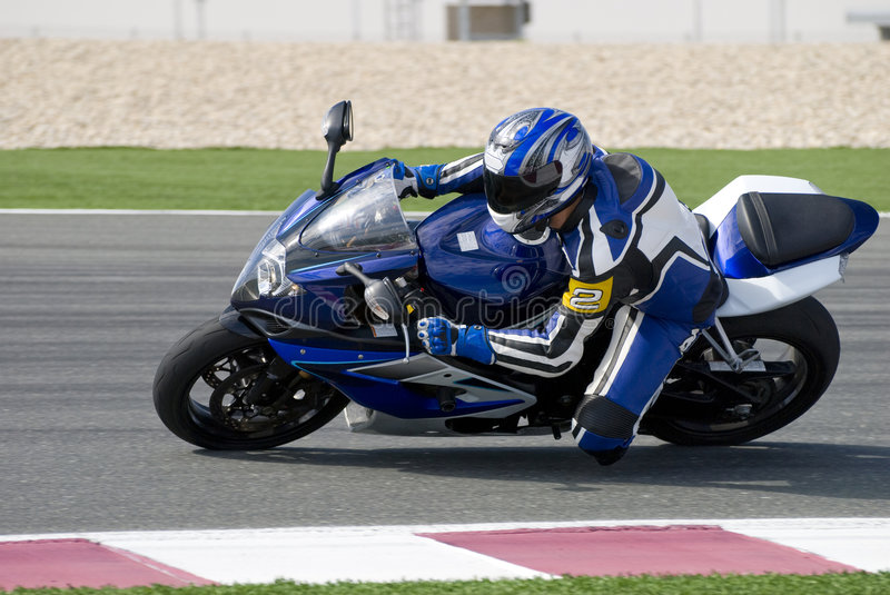 Download Superbike Racing On Track Royalty Free Stock Images - Image: 5207189