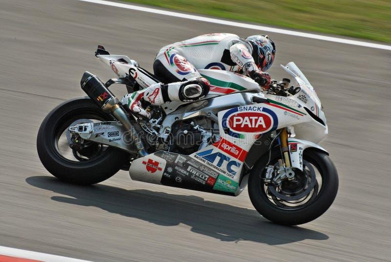 Superbike Team Pata Racing Aprilia Noriyuki Haga image stock