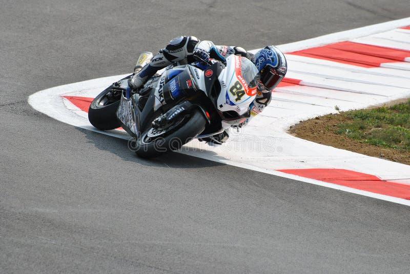 Superbike Team Suzuki Alstare Michel Fabrizio lizenzfreies stockfoto