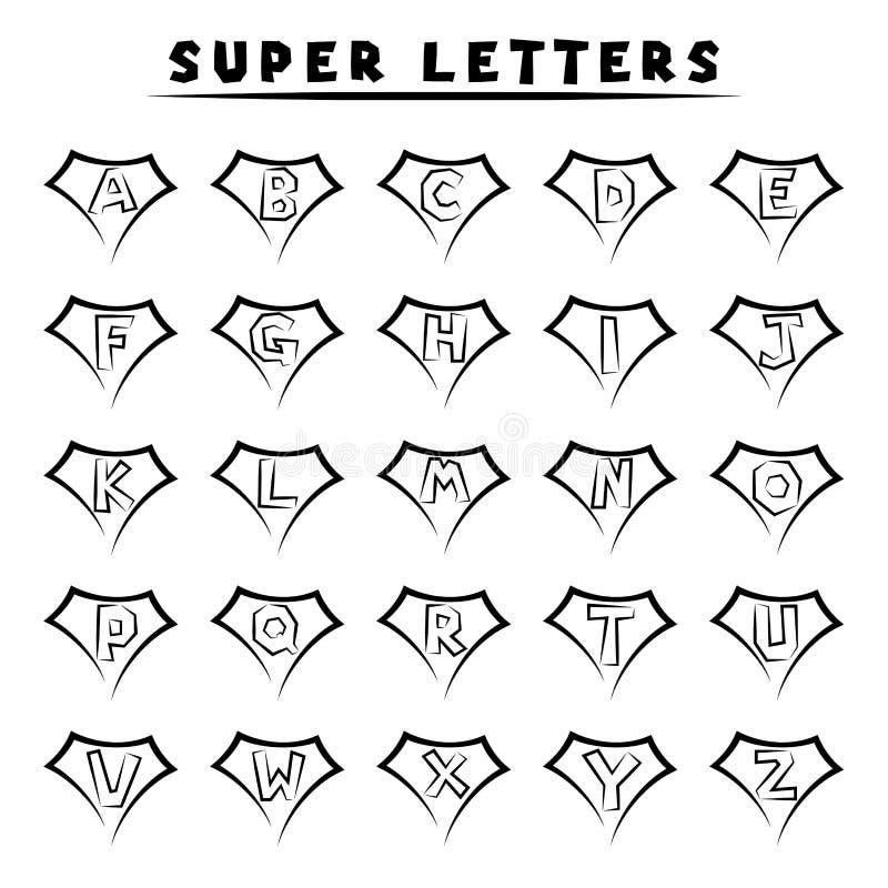 Superbuchstaben - Tätowierungsart stock abbildung