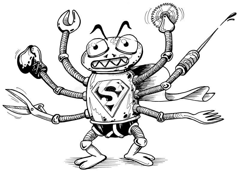 Superbug vector illustration