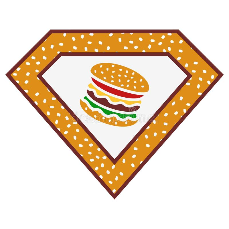 Superburger vektor abbildung