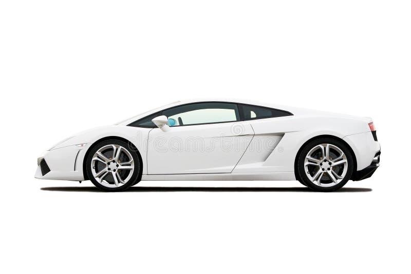 supercar白色 库存图片