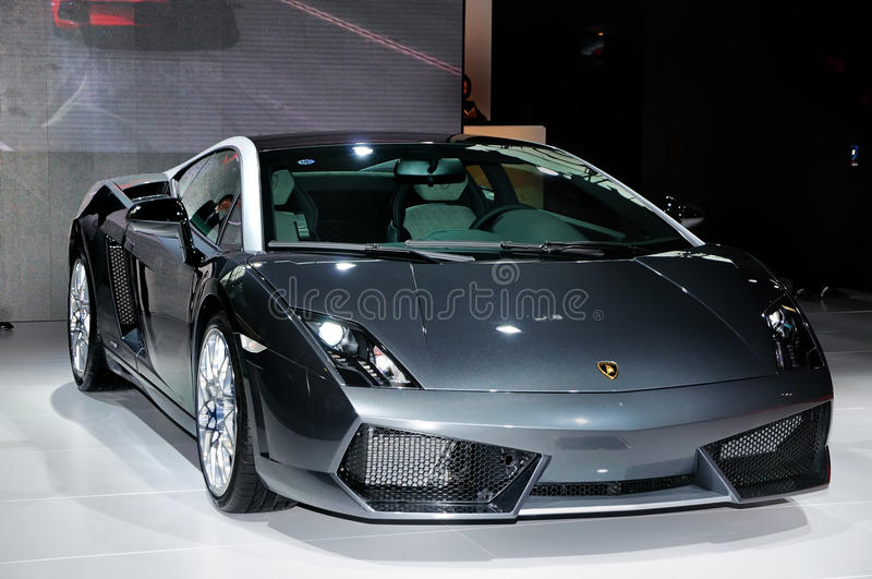supercar 4 gallardo lamborghini lp560的noctis 库存图片