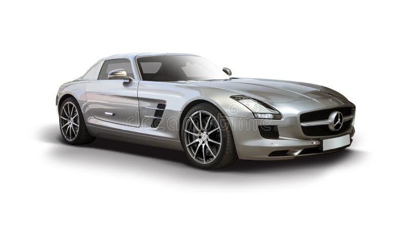 Supercar de Mercedes-Benz SLS AMG photo libre de droits