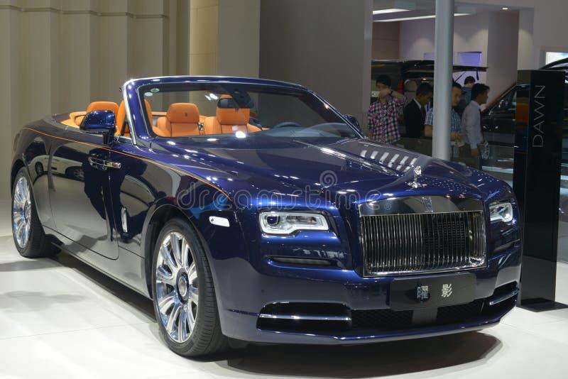 Supercar del convertible del amanecer de Rolls Royce imágenes de archivo libres de regalías