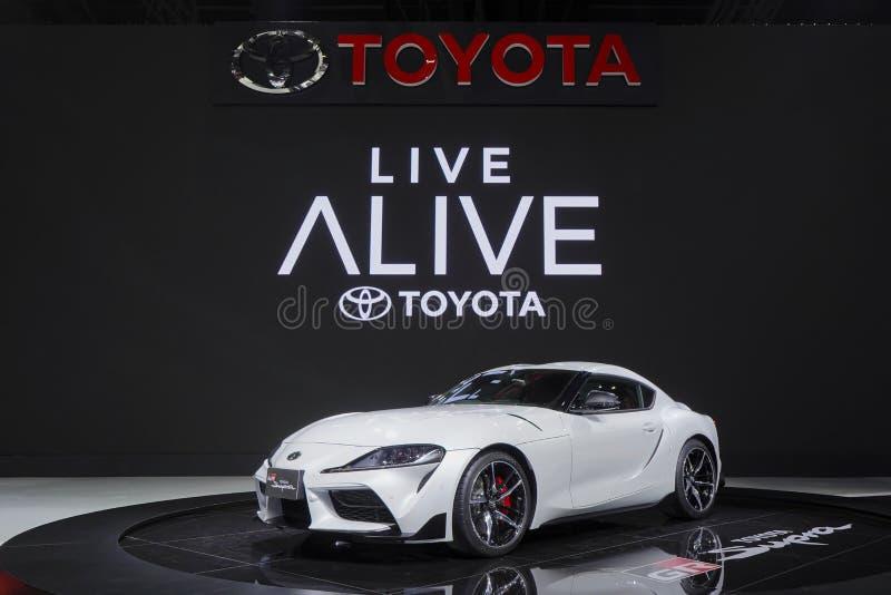 Supercar di Toyota Supra GR su esposizione nel salone dell'automobile Tailandia 2019 fotografie stock