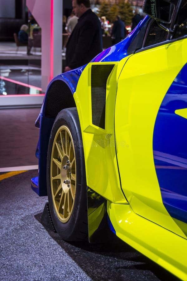 Supercar 2019 för Subaru WRX STI VT19x Rallycross arkivfoto