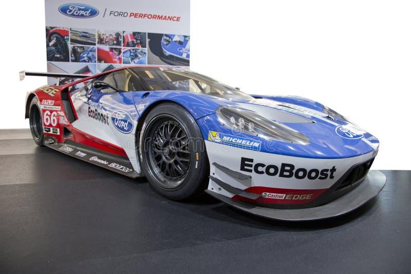 Supercar Fords GT, lokalisiert stockbild