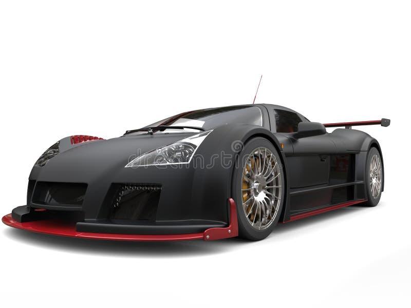Supercar impresionante en la pintura negra mate con los detalles rojos libre illustration