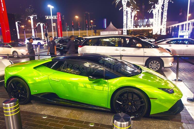 Supercar Lamborghini huricane greeen颜色 免版税库存照片