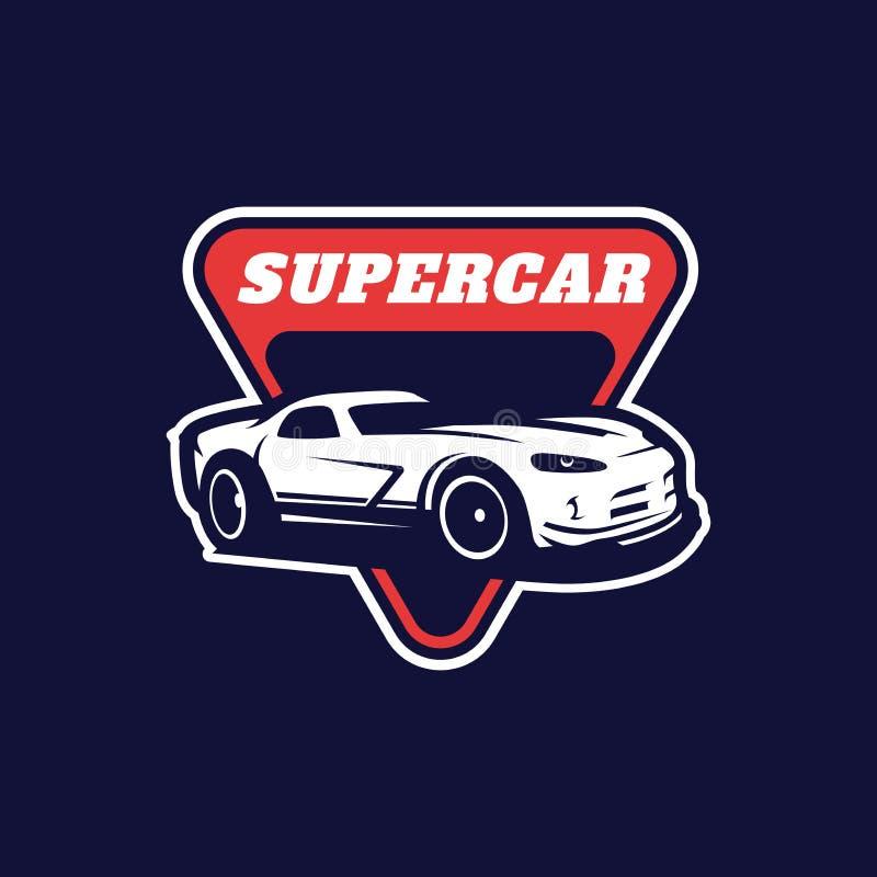 Supercar, modello di logo di vettore dell'automobile sportiva fotografia stock libera da diritti