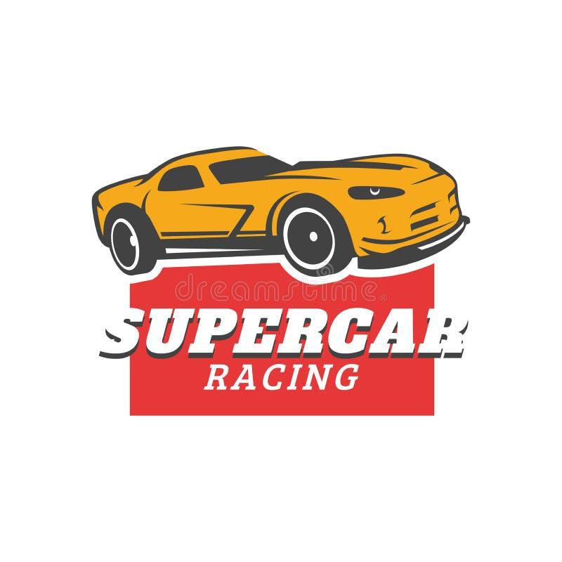 Supercar, modello di logo di vettore dell'automobile sportiva immagini stock libere da diritti