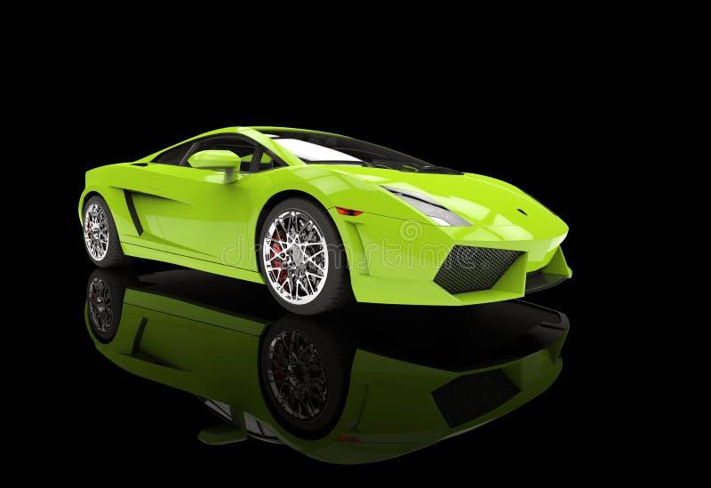 Supercar verde intenso illustrazione vettoriale
