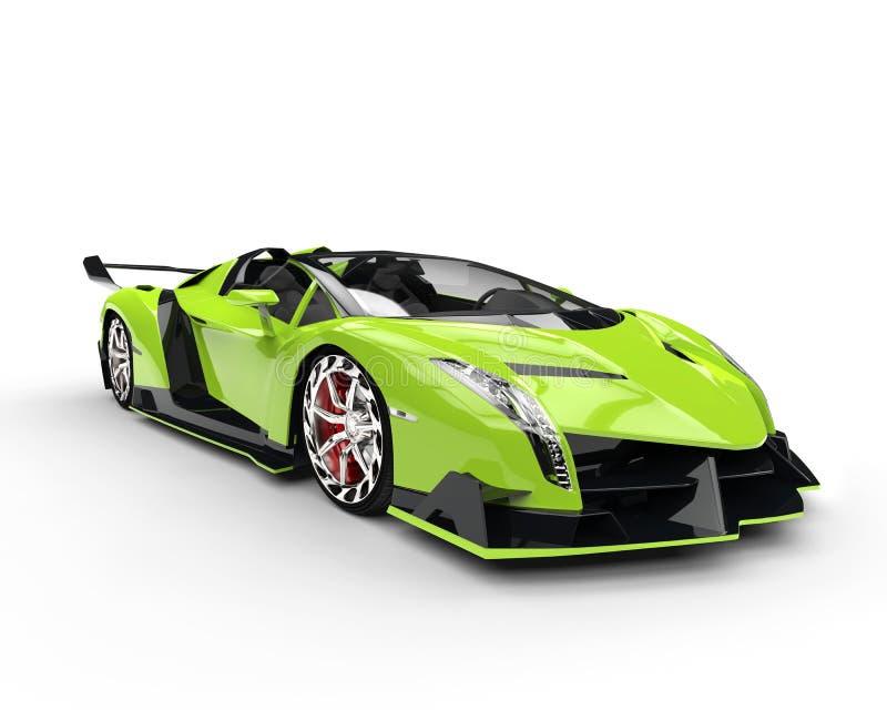 Supercar vert de course illustration stock
