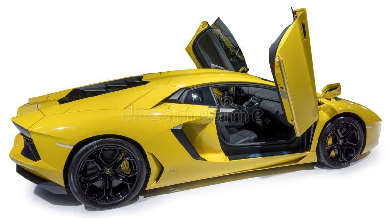 Supercarro de Lamborghini imagem de stock