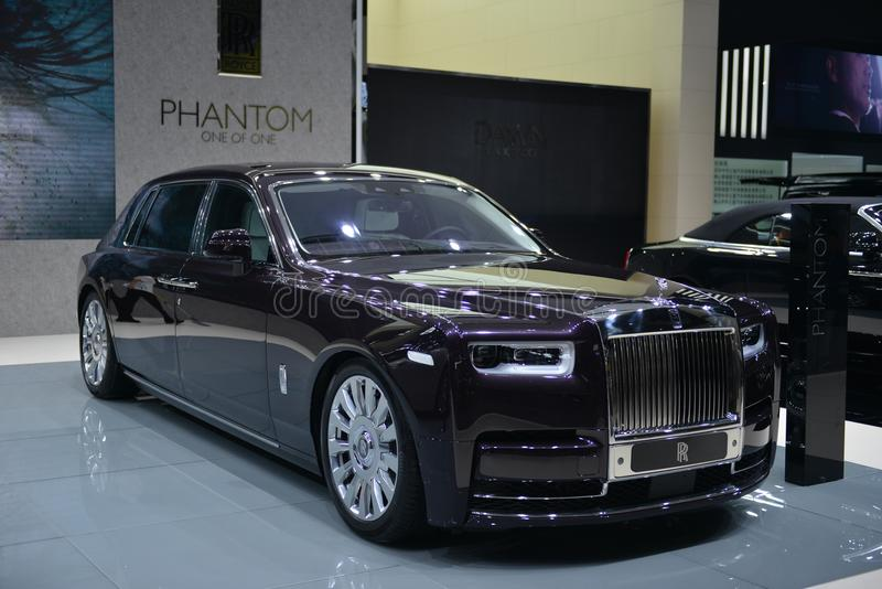 Supercarro de Rolls-Royce Phantom imagem de stock royalty free