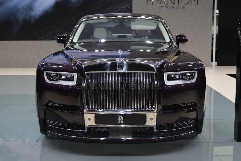Supercarro de Rolls-Royce Phantom imagem de stock