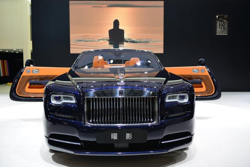 Supercarro do convertible do alvorecer de Rolls royce foto de stock royalty free