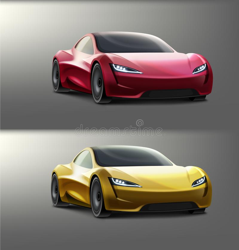 Supercars colorés par vecteur illustration libre de droits