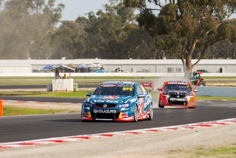 Supercars d'Australie de Vierge, Winton, Australie images libres de droits