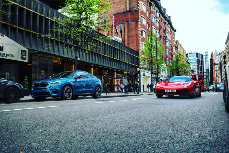 Supercars. London Canon d750 stock images