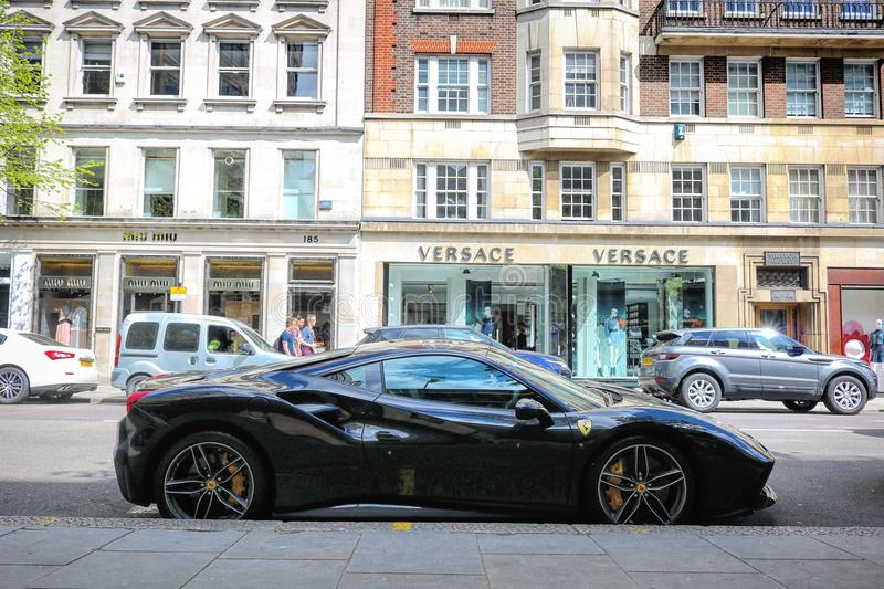 Supercars. London Canon d750 royalty free stock photo