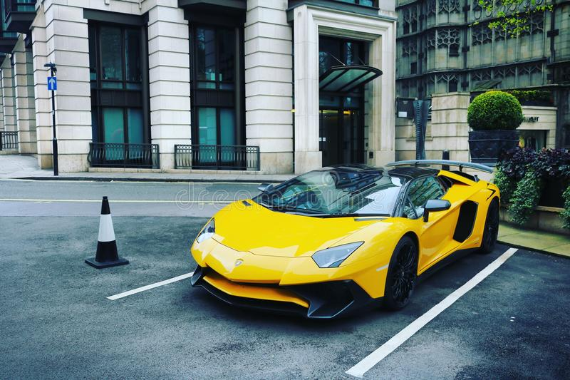 Supercars. London Canon d750 royalty free stock image