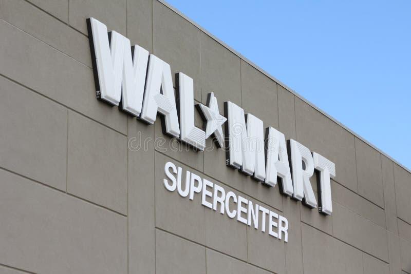 supercenter walmart стоковые фото