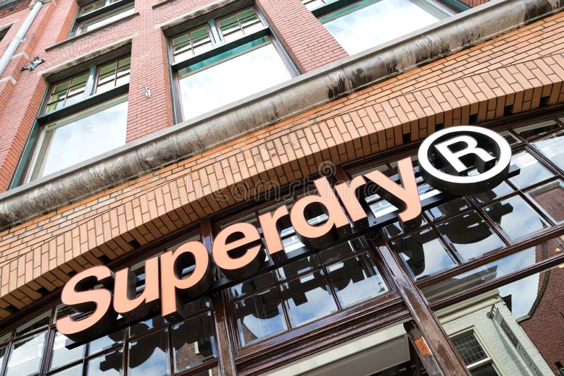 Superdry store in Leiden, The Netherlands royalty free stock photos