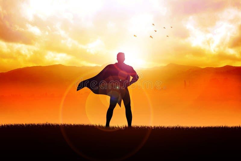 Supereroe illustrazione di stock