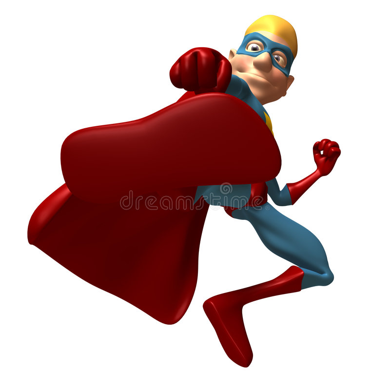 Supereroe biondo illustrazione di stock