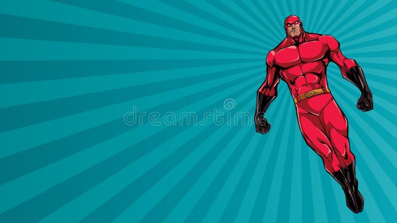 Supereroe che pilota Ray Light Background royalty illustrazione gratis