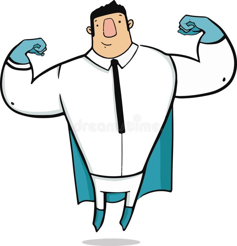 Supereroe dell'ufficio illustrazione vettoriale