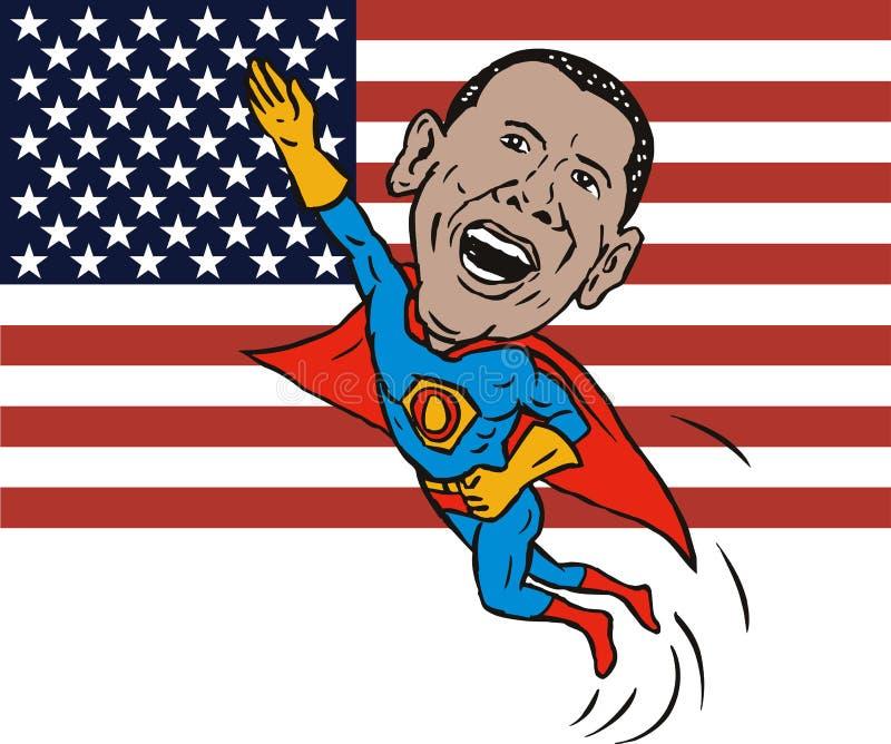 Supereroe di Barack Obama illustrazione vettoriale