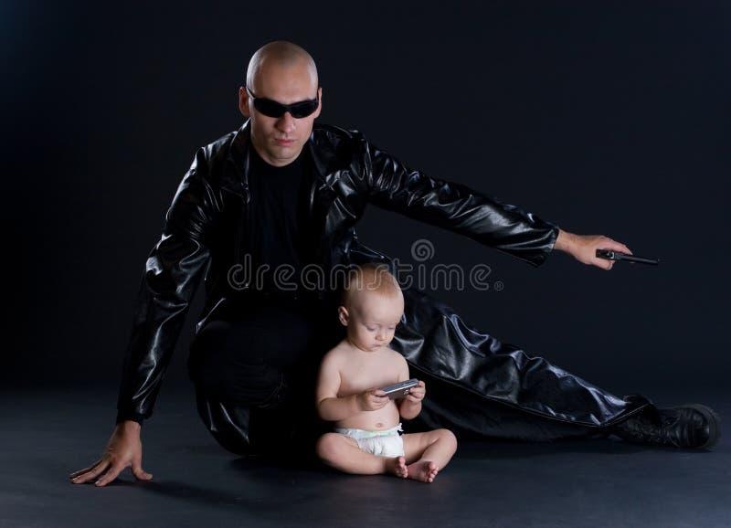 Supereroe e bambino fotografia stock libera da diritti