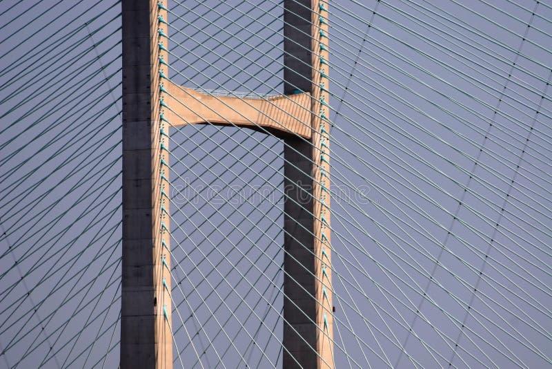 Superestrutura da ponte imagens de stock