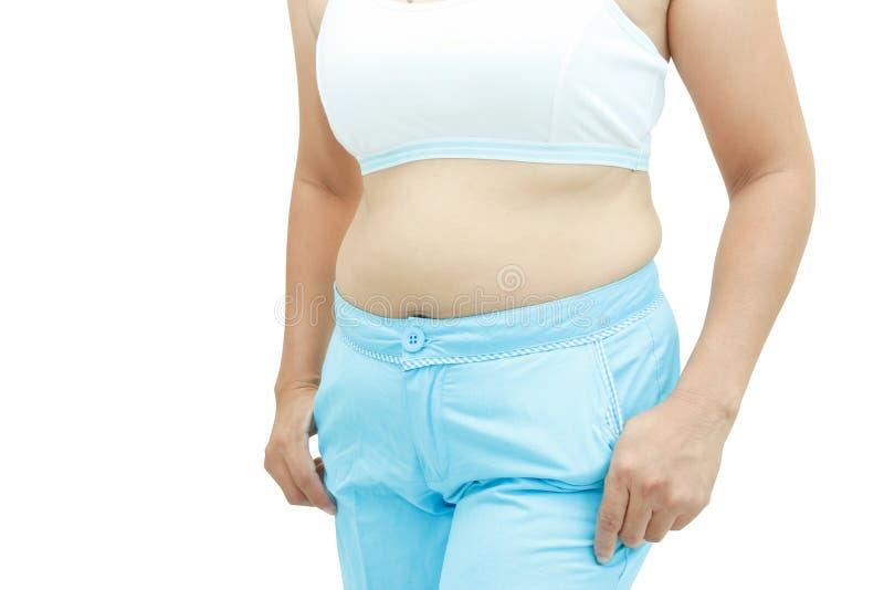 Superfície abdominal da mulher gorda imagem de stock