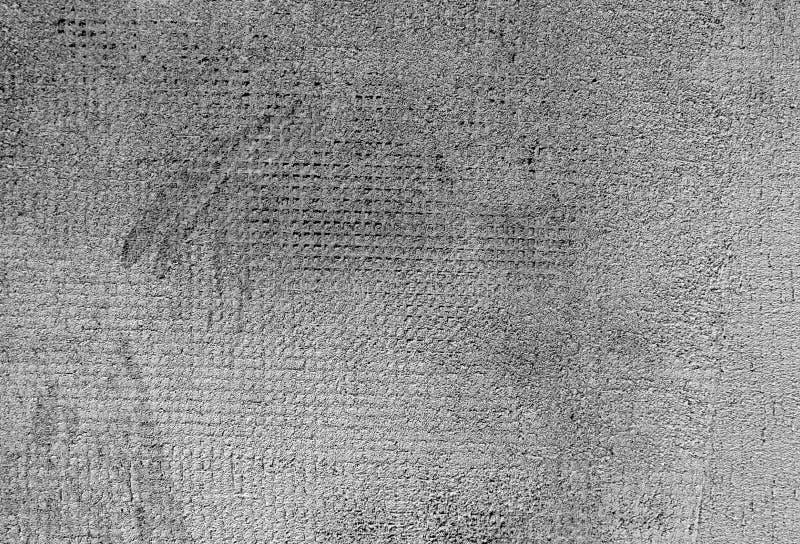 Superfície cinzenta resistida da parede do cimento da cor imagem de stock
