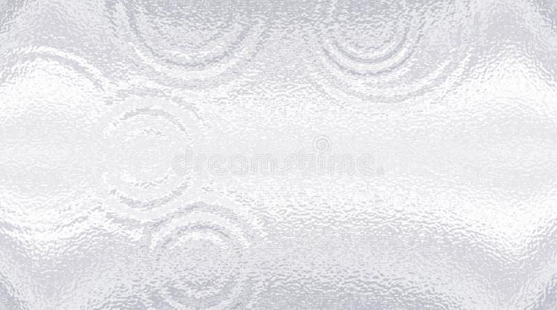 Superfície clara do resíduo metálico Vidro geado ripple Fundo cinzento branco do inclinação ilustração do vetor